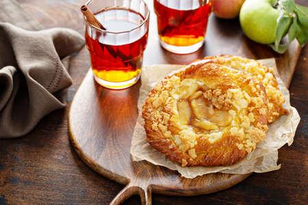Apple danish with tea