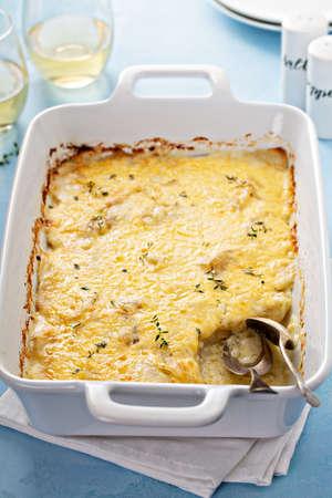 Cheese and potato gratin 版權商用圖片