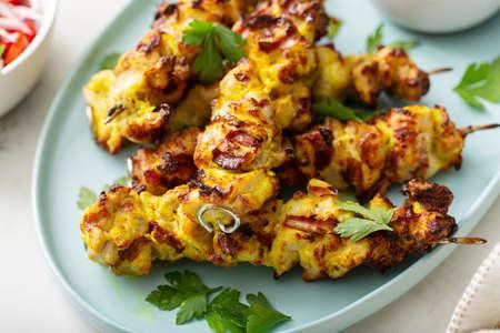 Chicken kebab with tzatziki sauce