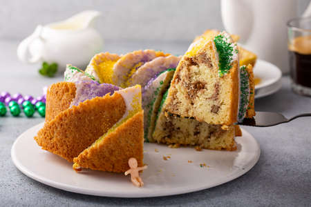 King cake with traditional decoration