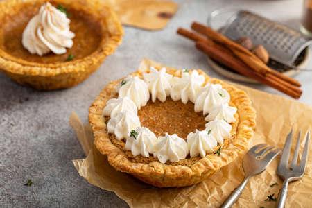 Mini sweet potato pies, warm spicy fall dessert
