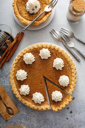 Pumpkin or sweet potato pies for Thanksgiving