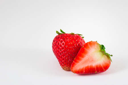 Strawberry isolated on white background. Stock Photo