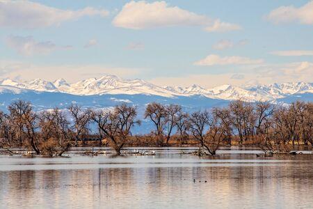 Barr Lake State Park in Brighton, Colorado 版權商用圖片