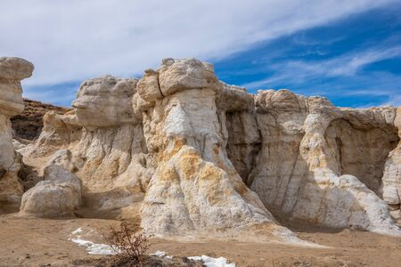 Paint Mines Interpretive Park, Unique and Colorful Ancient Geological Site in Colorado 版權商用圖片 - 143046975