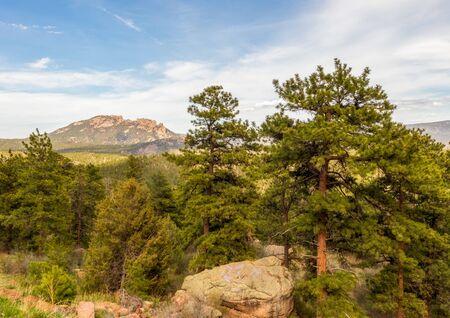 Scenic springtime Colorado landscape near Wellington Lake 版權商用圖片