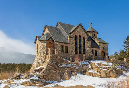 Saint Catherine's Chapel on the Rock. Church in the Rocky Mountains. Allenspark, Colorado.
