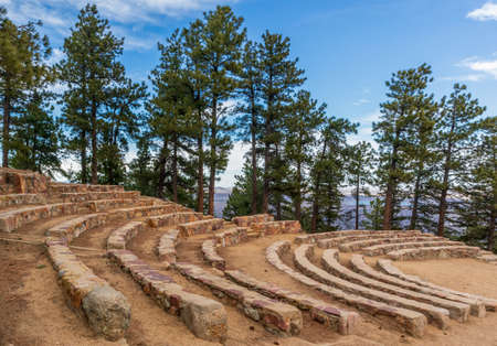 Sunrise Circle Amphitheater on the top of Flagstaff Mountain in Boulder mountain park, Colorado