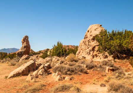 Garden of the Gods on the Turquoise Trail near Albuquerque, New Mexico.