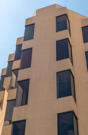 Contemporary building in downtown Albuquerque, New Mexico, architectural details 版權商用圖片