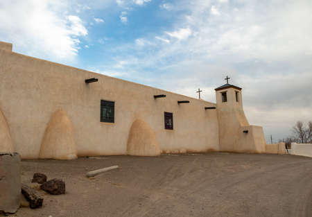 Saint Augustine Catholic Church in Isleta Pueblo, New Mexico 版權商用圖片
