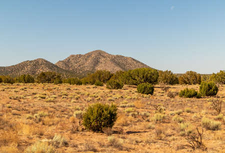 Scenic desert landscape on the Turquoise Trail near Albuquerque, New Mexico.