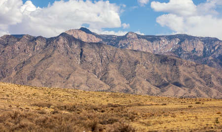 Scenic view of the Sandia Mountains, Albuquerque, New Mexico