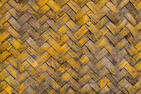 weaved: Yellow Weaved Bamboo Stock Photo