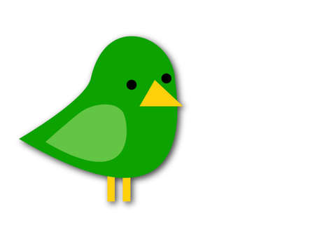 A vector illustration of a green bird