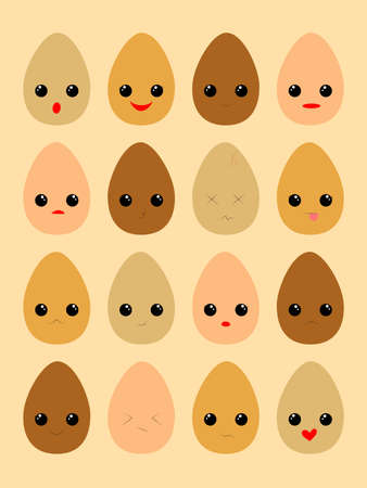 A funny illustration of different eggs