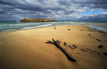 lonelyness: Tunisia in wintertime before storm