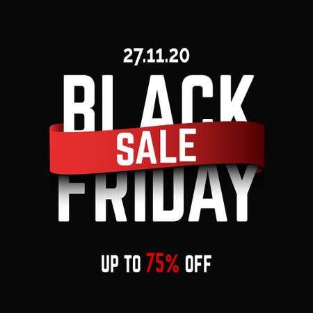 black friday sale background template Векторная Иллюстрация