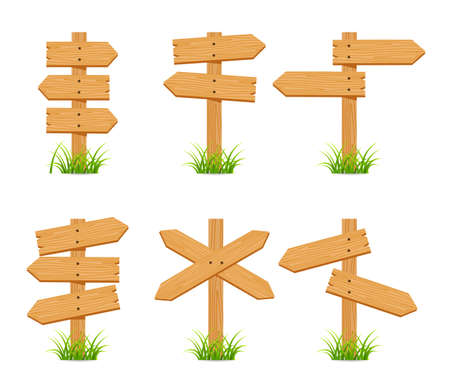 wooden sign set collection