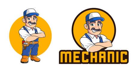 mechanic mascot template
