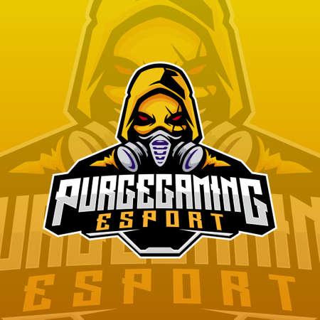 purge gas mask e-sport logo Vettoriali
