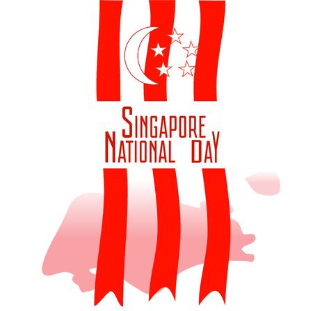 Día Nacional de Singapur Ilustración de vector