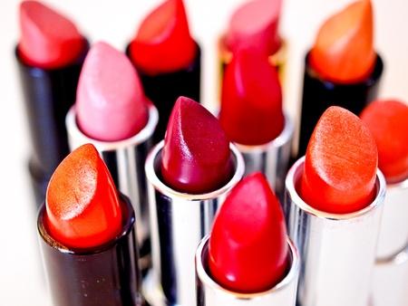 beautiful colorful lipsticks photo