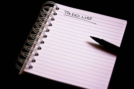a shot of a block of paper with an empty to do list Stock Photo - 10042295