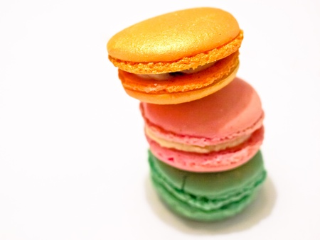 A still-life of some tasty macarons Stock Photo