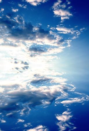 photomanipulation: a photomanipulation of a beautiful sky reflected on water