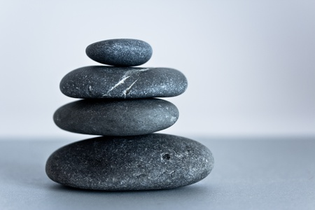a shot of black stones to depict the concept of balance and zen Stock Photo - 10866852