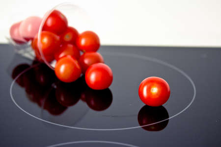 still-life of fresh tomatoes in a glass, eating healthy concept Stock Photo - 12190610