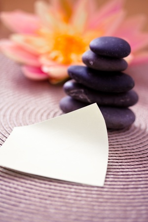 a spa inspired image with empty card for your text Stock Photo - 12868686