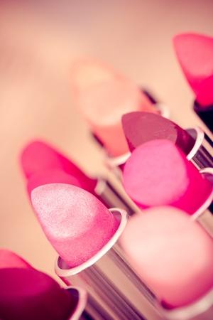 cosmetics  lipsticks shot at shallow depth of field photo