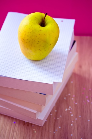 apple and books for school photo
