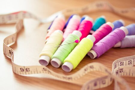 colorful sewing kit photo