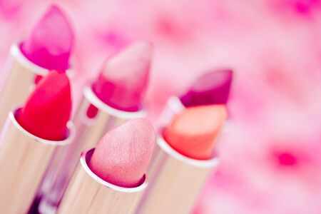 collection of different lipsticks colors Stock Photo - 13752115