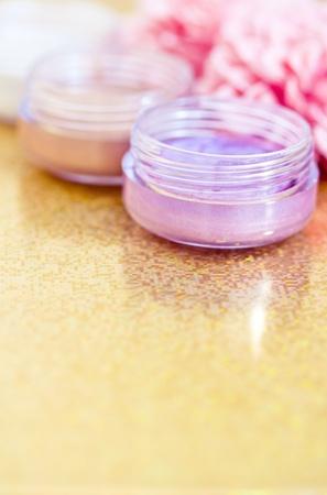 make-up shot of some eyeshadows photo