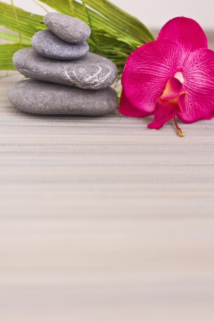 objects for spa massage and aromatherapy photo