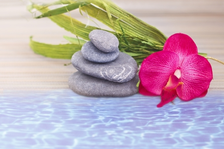 objects for spa massage and aromatherapy Stock Photo - 15995877