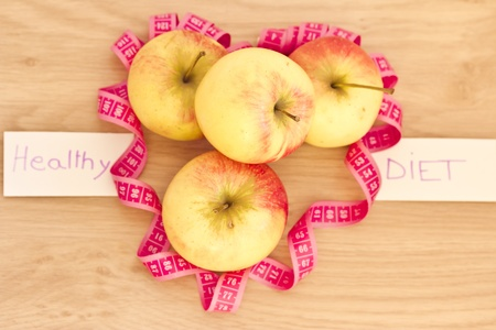 healthy living & fat loss: heart made of apples  photo