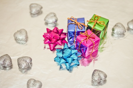 Christmas gift decorations photo