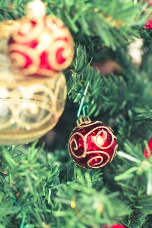 some beautiful Christmas tree decorations photo
