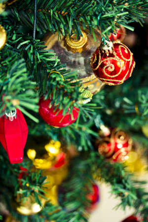 some beautiful Christmas tree decorations Stock Photo - 16834411