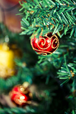 some beautiful Christmas tree decorations Stock Photo - 16834322