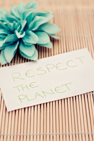 a memo asking to respect the planet Stock Photo - 17331262