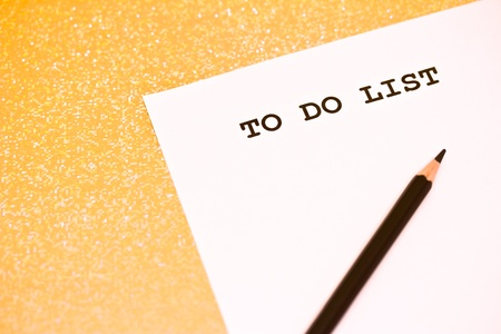business to do list with pencil and copyspace Stock Photo - 17726811