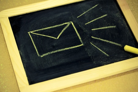 chalk envelop design, emailing symbol Stock Photo
