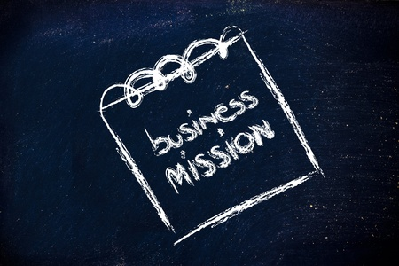 indexes: business mission,design of memo or notepad on blackboard