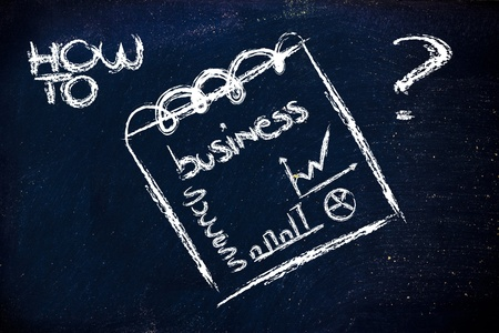 indexes: business and indexes,design of memo or notepad on blackboard Stock Photo